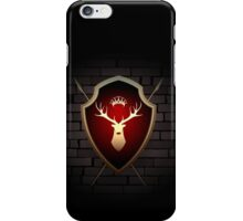 Deer Shield with Torches on the Wall iPhone Case/Skin