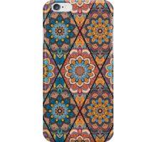 Rhombus Boho Flower Tile Pattern iPhone Case/Skin