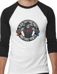 Black Panthro Party Men's Baseball ¾ T-Shirt