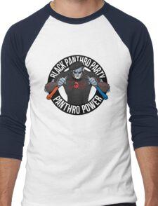 Black Panthro Party Men's Baseball ¾ T-Shirt