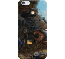 Monster Train attacking Cowboys iPhone Case/Skin