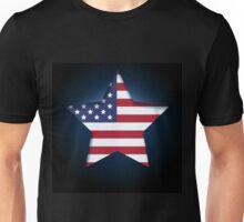 American flag in star shape Unisex T-Shirt
