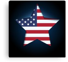 American flag in star shape Canvas Print