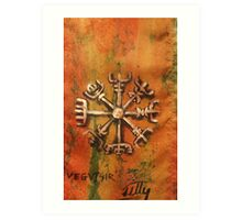 Vegvisir rune Art Print