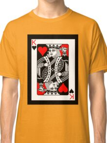 KING OF HEARTS (RED AND BLACK)-2 Classic T-Shirt