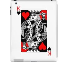 KING OF HEARTS (RED AND BLACK)-2 iPad Case/Skin