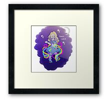 cute lunar witch in her natural habitat Framed Print