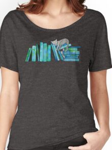 Literary Naps Blue Women's Relaxed Fit T-Shirt