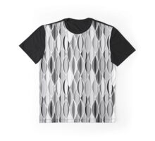 Mid-Century Ribbon Print, Gray, Black and White Graphic T-Shirt