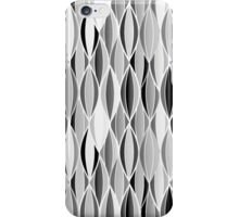 Mid-Century Ribbon Print, Gray, Black and White iPhone Case/Skin