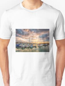 Ryde Harbour Sunbeam Sunset Unisex T-Shirt