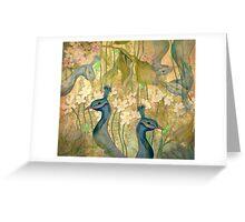 Peacock Garden Greeting Card