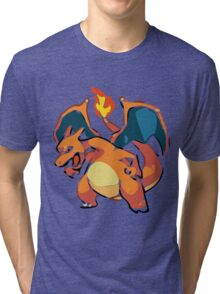 Pokemon: Charizard (Vectorized) Tri-blend T-Shirt