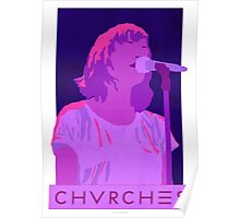 CHVRCHES Art - Neon Lauren Mayberry Poster