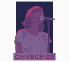 CHVRCHES Art - Neon Lauren Mayberry Kids Tee