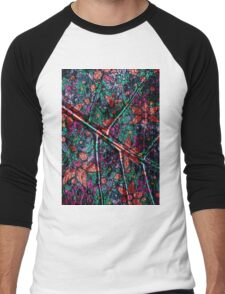 Vintage Trendy Floral Pattern Men's Baseball ¾ T-Shirt