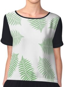Fern Branches Pattern,  #redbubble, #abstract, #pattern, #floral Chiffon Top