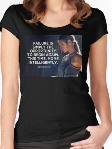 Failure Is An Opportunity To Change Again Women's Fitted Scoop T-Shirt