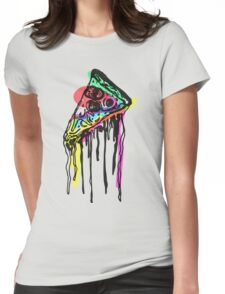 Pop Pizza Womens Fitted T-Shirt