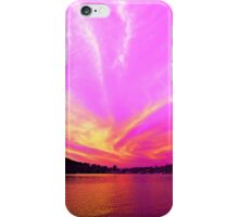 Pink Orange & White Ocean Sunrise with Water Reflections. iPhone Case/Skin