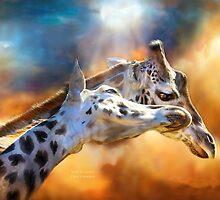 Giraffes - Wild Dreamers by Carol  Cavalaris