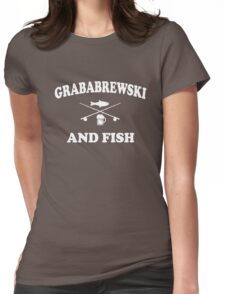 Grababrewski and fish Womens Fitted T-Shirt