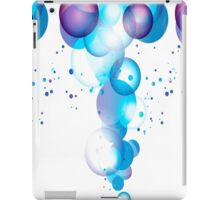 Blue and Purple Party Bubbles iPad Case/Skin