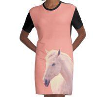 Desert Dream Wild Horse Graphic T-Shirt Dress