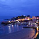 Tenby Harbour at night by SteveHphotos