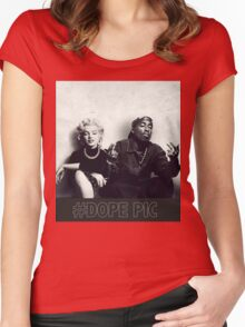 monroe dope  Women's Fitted Scoop T-Shirt
