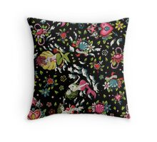 Summer Tail (on black) Throw Pillow