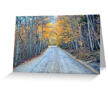 October Road Greeting Card