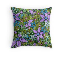 Vintage Trendy Floral Pattern Throw Pillow