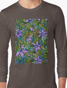 Vintage Trendy Floral Pattern Long Sleeve T-Shirt