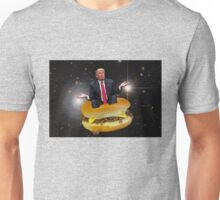 Trump in space riding a sandwich with some sketchy af cheese on it Unisex T-Shirt