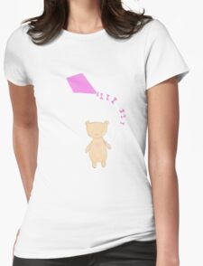 Bear and a Kite Womens Fitted T-Shirt