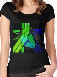 radioactive heart Women's Fitted Scoop T-Shirt
