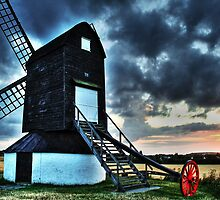 Pitstone Windmill Sunset in HDR by Dale Rockell