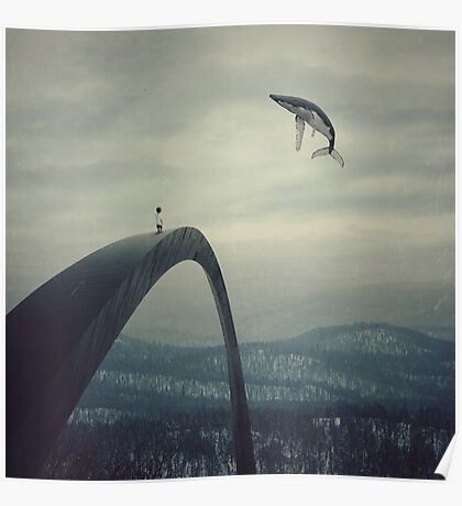 Boy and the flying whale Poster