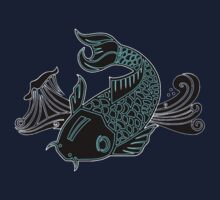 Bioluminescent Koi Kids Tee