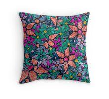 Retro Trendy Floral Pattern Throw Pillow