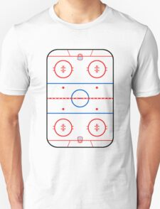Ice Rink Diagram Hockey Game Companion Unisex T-Shirt
