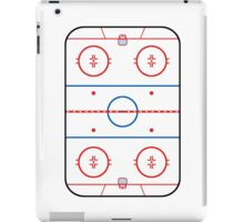 Ice Rink Diagram Hockey Game Companion iPad Case/Skin