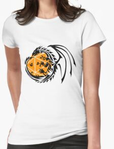Dungeons and Dragons - Black and Orange! Womens Fitted T-Shirt