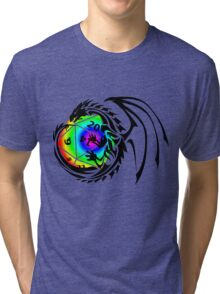 Dungeons and Dragons - Black and Rainbow (Prismatic)! Tri-blend T-Shirt