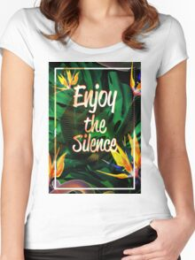 Enjoy the Silence Women's Fitted Scoop T-Shirt