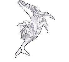 Fantasy Whale  Photographic Print