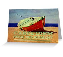 Broken Fishing Boat on a Beach Greeting Card