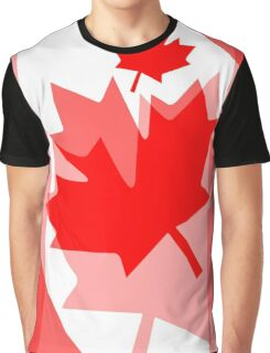 A Canadian Flag Wave Graphic T-Shirt