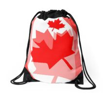 A Canadian Flag Wave Drawstring Bag